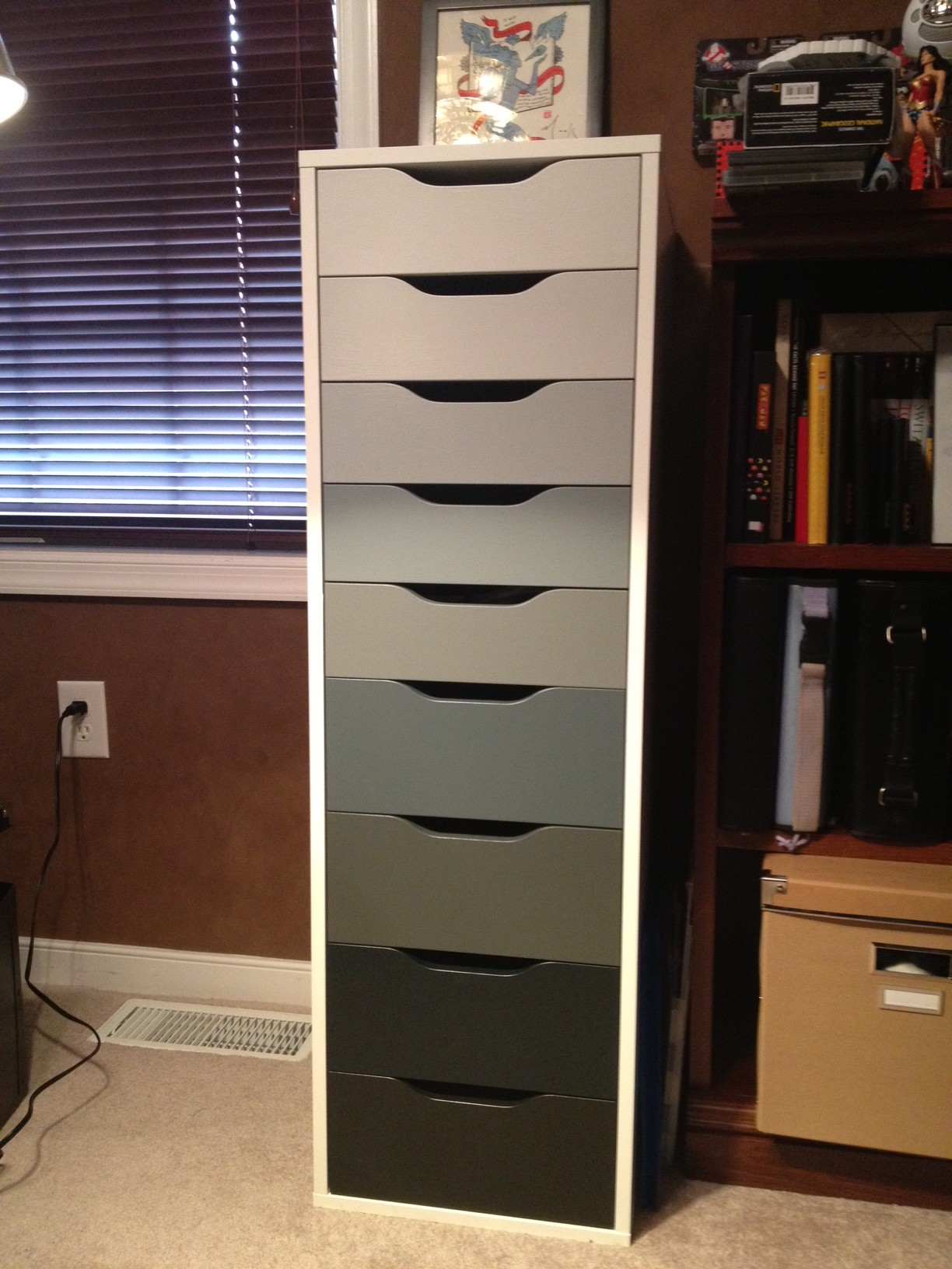 Aneboda Kleiderschrank Von Ikea ~ Ikea Alex with Ombre Drawers  CannedIceCreative